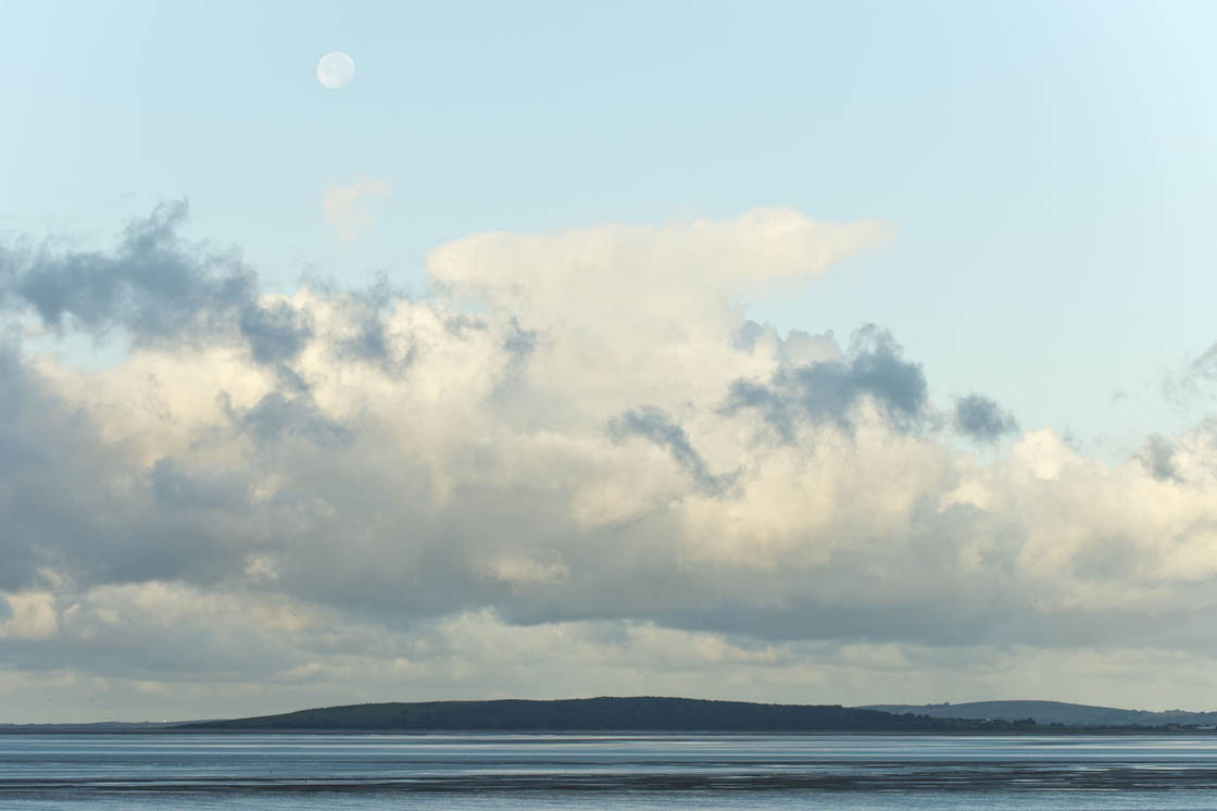 Moon over the estuary